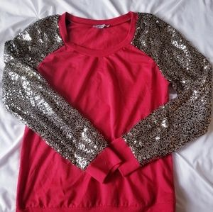 Sequin and Red Sweater